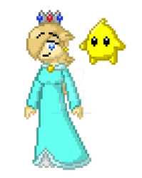 Just a Normal, Uninflated Rosalina Sprite by Shadowbonnie5