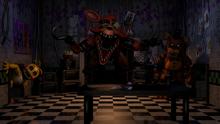 FNAF 2 Map V2 Showcase + Download! by AndyDatRaginPurro