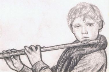 Mingus Reedus playing the flute by gagambo