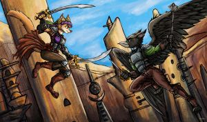 Mayflower vs Gryphon by TheLivingShadow