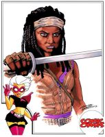 Comic Oasis Cardstock Michonne by KidNotorious