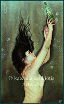 Message In A Bottle by Katerina-Art