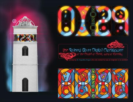 Stained-Glass Clock Tower by omniskriba
