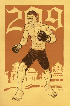 Nick Diaz by RamonVillalobos