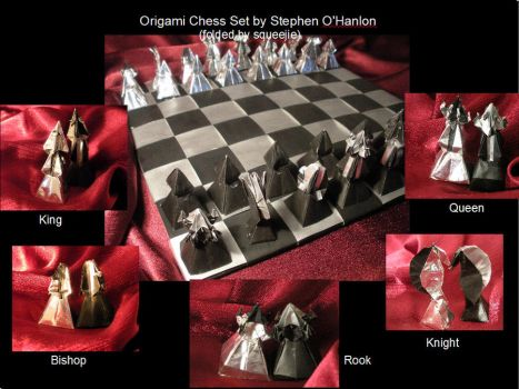 Origami Chess Set by squeejie