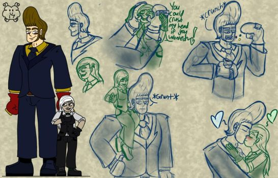 Mike n Ace reference and sketch dump by fuzzball17