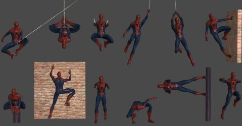 Spider-Man Pose Pack ft(Bonus Poses) by WildGold