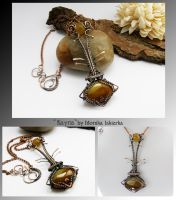 Kayna- wire wrapped copped necklace by mea00