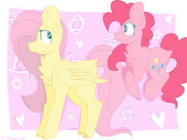 Fluttershy And Pinkie ^^ by GeneralFreyma