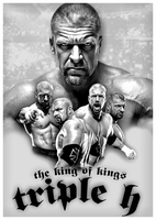 Triple H - Tribute Poster by DGLProductions