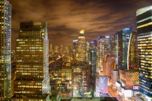 Times Square at night by arnaudperret