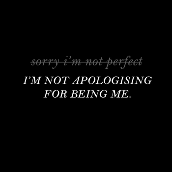 Not apologising by Karen-Donna