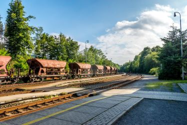 Calm czech railway station by mszucs