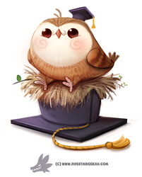 Daily Paint 1284. I GradHOOated! by Cryptid-Creations