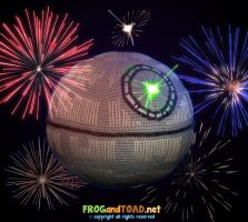 Death Star Amigurumi Battle FROGandTOAD by FROG-and-TOAD