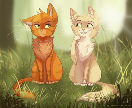 Fireheart and Sandstorm by Vilina