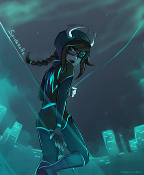 Superhero AU: Vriska by ikimaru-art