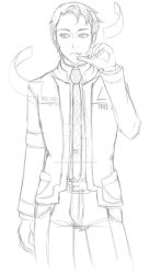 Connor Detroit become Human WIP by theWhiteDEVIL66
