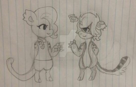 Telo and Spade doodle by Pastel-Bean