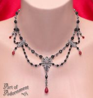 Lucrezia Gunmetal Necklace by Valerian