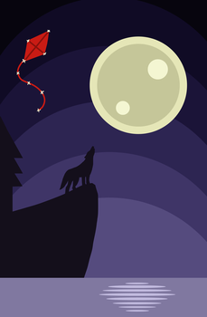 A Wolf in the Night by MaxWIllustration