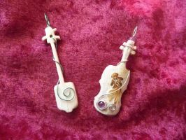 Carved Deer Bone Instruments by Tricksters-Taxidermy