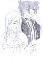 Erza and Jellal by cak04