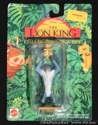 The Lion King - Rafiki and Cub Simba - Mattel 1994 by dapumakat