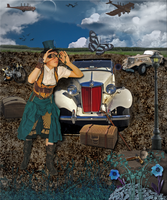 Steampunk Traveling Dream by WDWParksGal-Stock