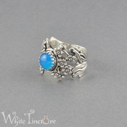 Forget-me-not ring by WhiteTincture