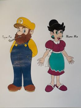 Mario and Luigis Parents by Megaloceros-Urhirsch