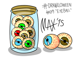 Drawlloween 09 - Eyeball by megawackymax