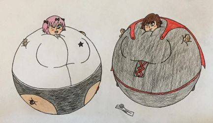 Ruby Rose and Hibari by WarioTheInflator