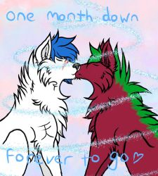 One month by sapphicstardust