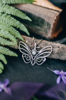 Moonstone butterfly necklace by UrsulaJewelry