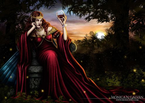 Farian, Queen of the Sidhe - EV Frustration by Monica-NG