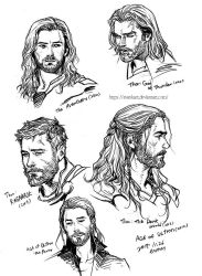 Thor hairstyles by evankart