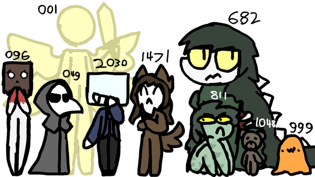 SCP doodles (LEVEL 2 REQUIRED) by stilbie