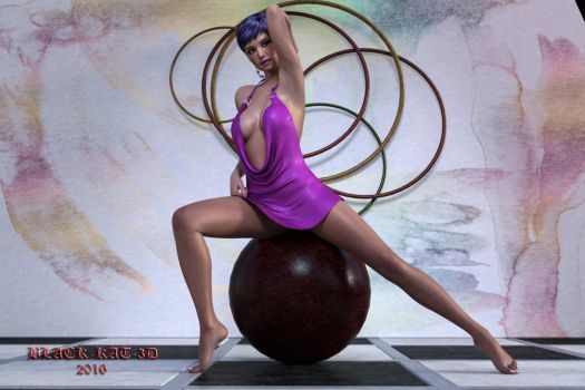Nadia On the Ball. by black-kat-3d
