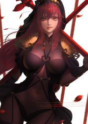 Fate / Grand Order - 'Scathach' commission by thaumazo