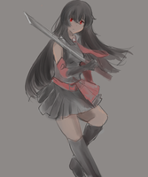 Akame - Akame ga kill by Toushiirou