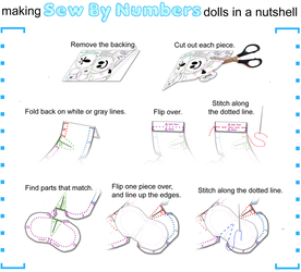 Making Sew By Numbers Dolls by toenolla