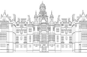 Mansion Lineart by BloomyLiahona