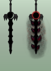 Atterox -- The Blade of Chaotic Darkness by BlueLeafeon