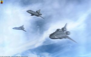 Bombers over Picon by Euderion