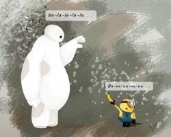 Baymax and minion by Diksha13
