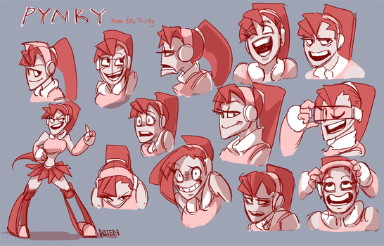 Pynky Character Designs by CuteC3