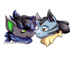Booping Noses by Whitesnowpaw