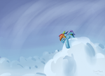 Pegasus Flying Fast Draw Along Oct 12th by DarkFlame75