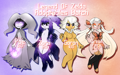 SOLD | ADOPTS | Zelda Themed Batch! by Nykun